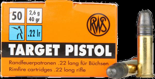 RWS Target Pistol .22 LR LRN 40 grs Kleinkaliberpatronen