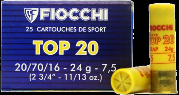Fiocchi F20 Trap 20/70 24 gr Schrotpatronen