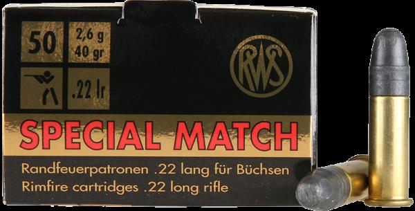 RWS Special Match .22 LR LRN 40 grs Kleinkaliberpatronen