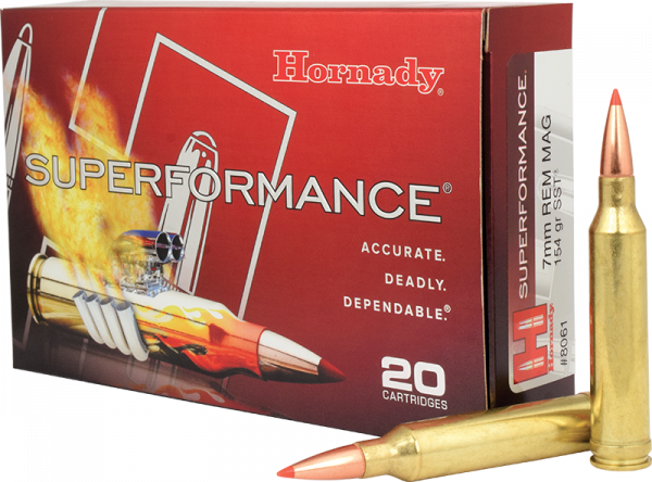 Hornady Superformance 7mm Rem Mag SST 154 grs BŸchsenpatronen