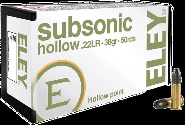 Eley Subsonic Hollow .22 LR HP 38 grs Kleinkaliberpatronen