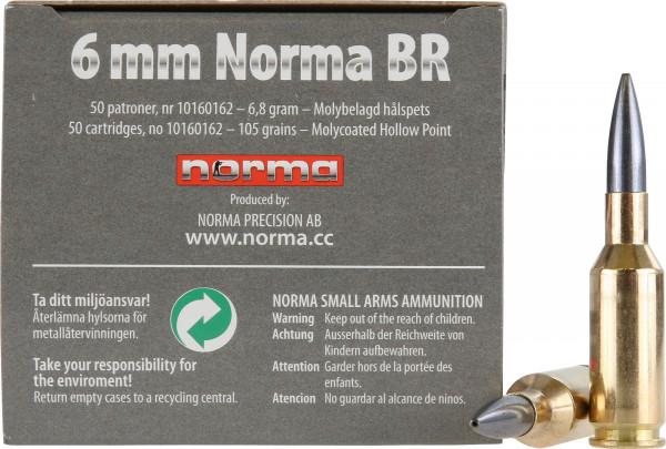 Norma 6mm Norma BR 6,80g - 105grs Norma Diamond Line Büchsenmunition