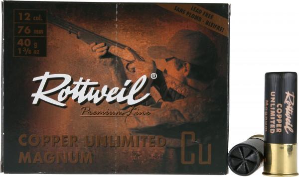 Rottweil Copper Unlimited Magnum 12/76 40g 3mm Schrotpatronen