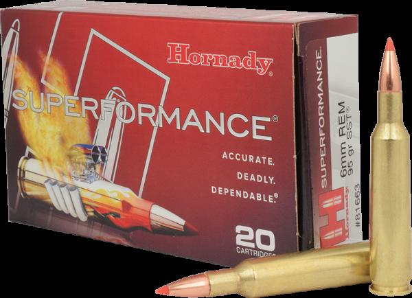 Hornady Superformance 6mm Rem SST 95 grs BŸchsenpatronen