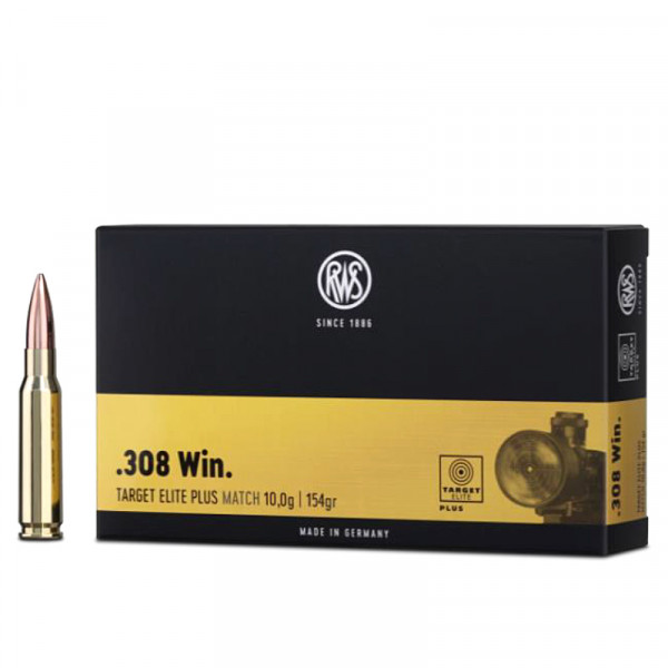 RWS Target Elite Plus .308 Win 9,98g - 154grs BTHP Büchsenmunition