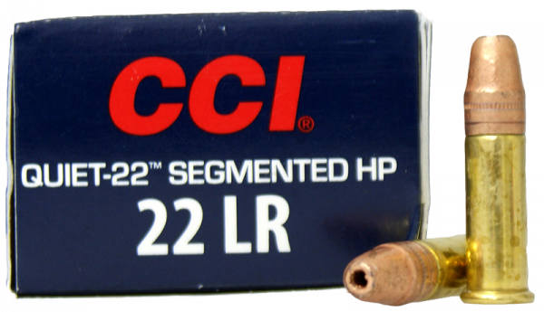 CCI Quiet 22 Segmented HP .22 LR HP 40 grs Kleinkaliberpatronen