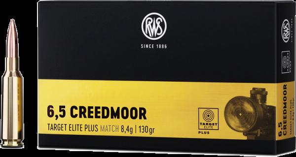 RWS Target Elite Plus 6,5mm Creedmoor TEP 130 grs Büchsenpatronen