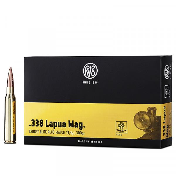 RWS Target Elite Plus .338 Lapua Mag 19,44g - 300grs BTHP Büchsenmunition