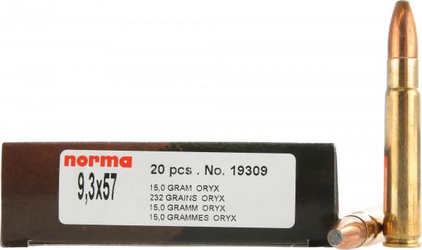 Norma 9,3 x 57 15,03g - 232grs Norma Oryx Büchsenmunition