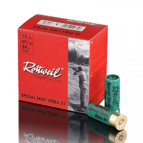 Rottweil Special Skeet Streu 12/67,5 24g 2mm Schrotpatrone