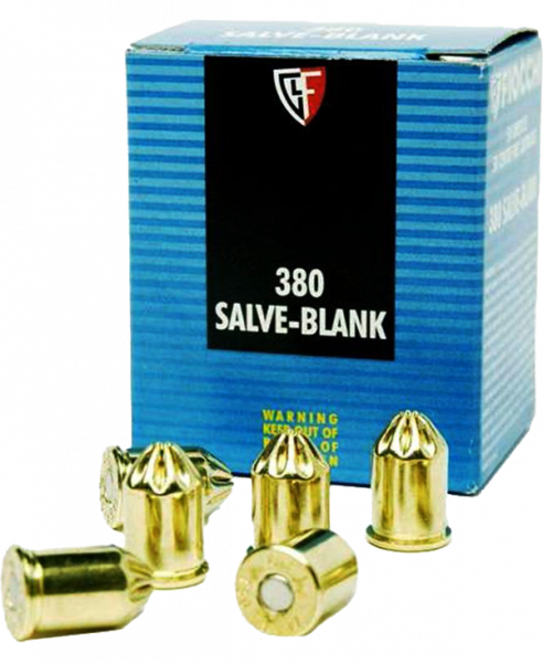 Fiocchi 9mm Browning Kurz (.380 ACP) Blank Schreckschusspatronen