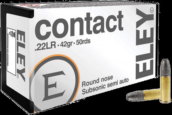 Eley Contact .22 LR LRN 42 grs Kleinkaliberpatronen