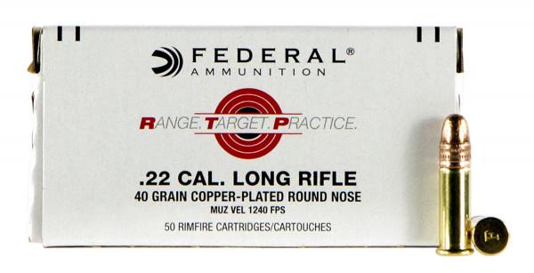 Federal RTP .22 LR 2,59g - 40grs CPRN Kleinkalibermunition