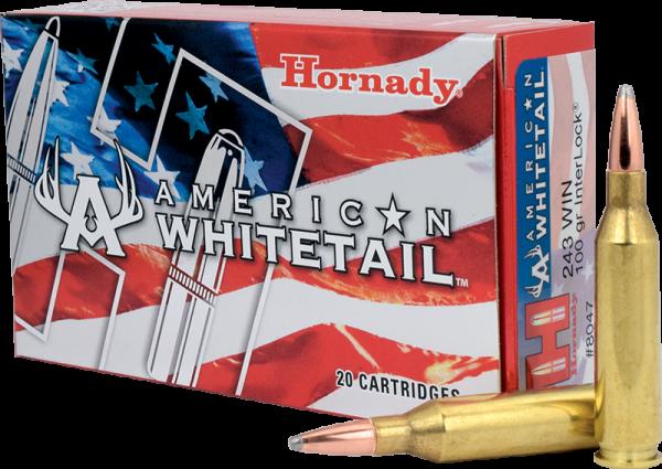 Hornady American Whitetail .243 Win InterLock 100 grs BŸchsenpatronen