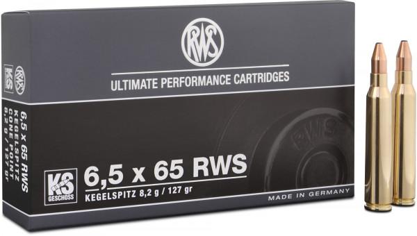 RWS Kegelspitz 6,5 x 65 8,23g - 127grs SP Büchsenmunition