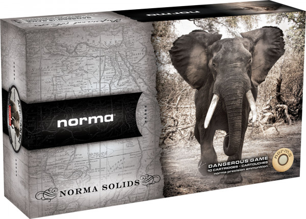 Norma .375 H&H Mag 19,44g - 300grs Norma Solid Büchsenmunition