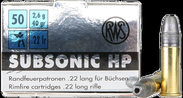 RWS Subsonic .22 LR HP 40 grs Kleinkaliberpatronen