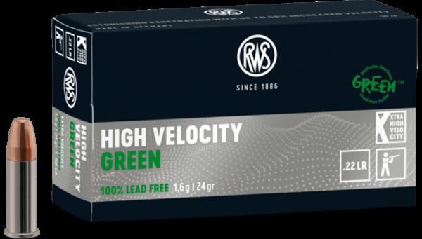 RWS .22 LR High Velocity Green 24 grs Kleinkaliberpatronen