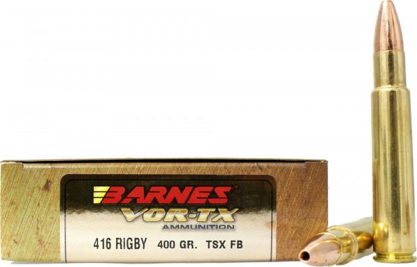 Barnes  416 Rigby 25,92g - 400grs Barnes TSX Büchsenmunition