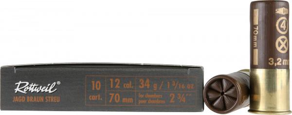 Rottweil 12/70 34g 3,2mm Jagd Streu Jagdschrot Schrotpatronen