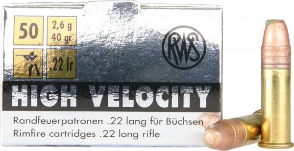 RWS .22 l.r. 2,59g - 40grs High Velocity Kleinkalibermunition