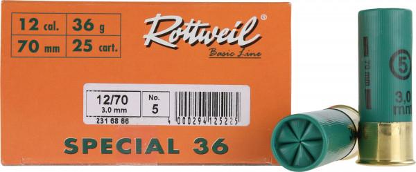 Rottweil 12/70 36g 3,0mm Special 36 Jagdschrot Schrotpatronen