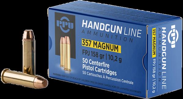 Prvi Partizan Handgun Line .357 Mag FMJ Flat 158 grs Revolverpatronen