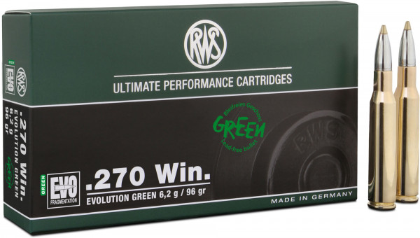 RWS Evolution Green .270 Win 6,22g - 96grs HP Büchsenmunition