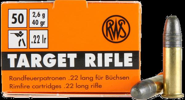 RWS Target Rifle .22 LR LRN 40 grs Kleinkaliberpatronen