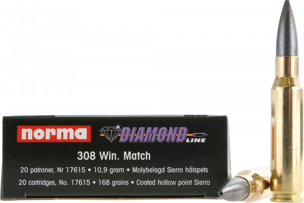 Norma .308 Win-168grs Norma Diamond Line Match Büchsenmunition
