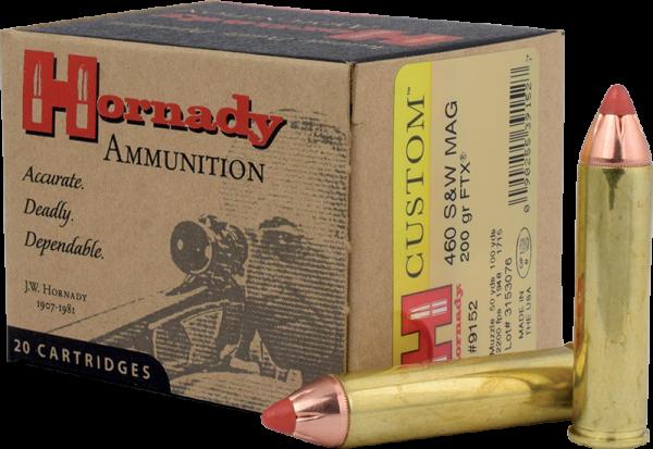 Hornady Custom .460 S&W Mag FTX 200 grs Revolverpatronen