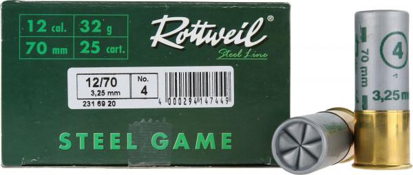 Rottweil Steel Game 12/70 32g 3,2mm Schrotpatronen