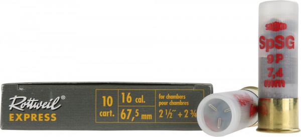 Rottweil Express 16/67,5 22g 7,4mm Schrotpatronen