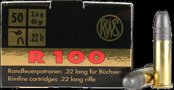 RWS R100 .22 LR LRN 40 grs Kleinkaliberpatronen