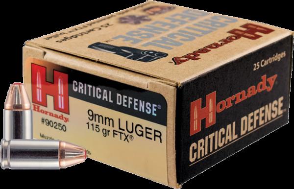 Hornady Critical Defense 9mm Luger (9x19) FTX 115 grs Pistolenpatronen