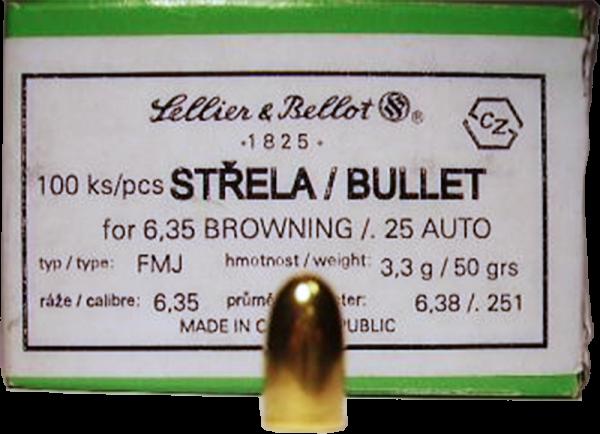 Sellier & Bellot FMJ Kurzwaffengeschosse 1