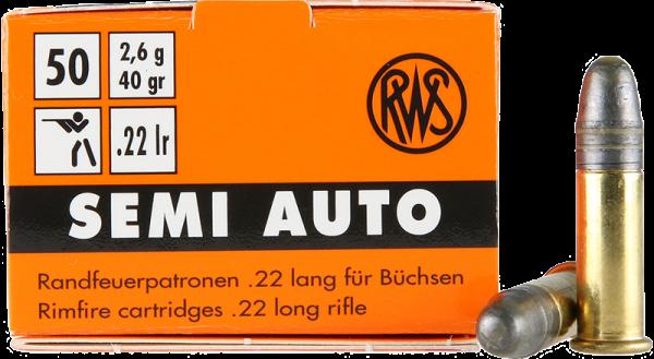 RWS Semi Auto .22 LR LRN 40 grs Kleinkaliberpatronen