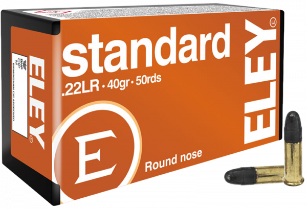 Eley Standard .22 LR LRN 40 grs Kleinkaliberpatronen