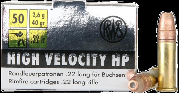 RWS High Velocity .22 LR HP 40 grs Kleinkaliberpatronen