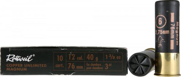 Rottweil Copper Unlimited Magnum 12/76 40g 2,75mm Schrotpatronen