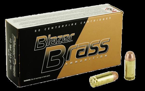 Blazer Brass .40 S&W FMJ 165grs Pistolenpatronen
