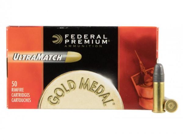 Federal Premium .22 l.r. 2,59g - 40grs Solid Kleinkalibermunition #UM22