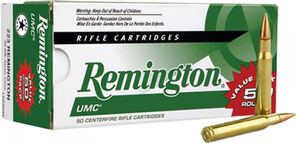 Remington .223 Rem 55grs FMJ Büchsenpatronen