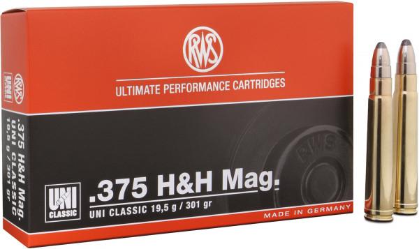 RWS UNI Classic .375 H&H Mag 19,50g - 301grs SP Büchsenmunition