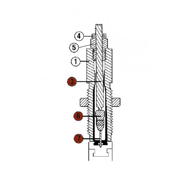 RCBS Ausstoßerstange (komplett) Kaliber .22 PPC Matrizen Ersatzteil