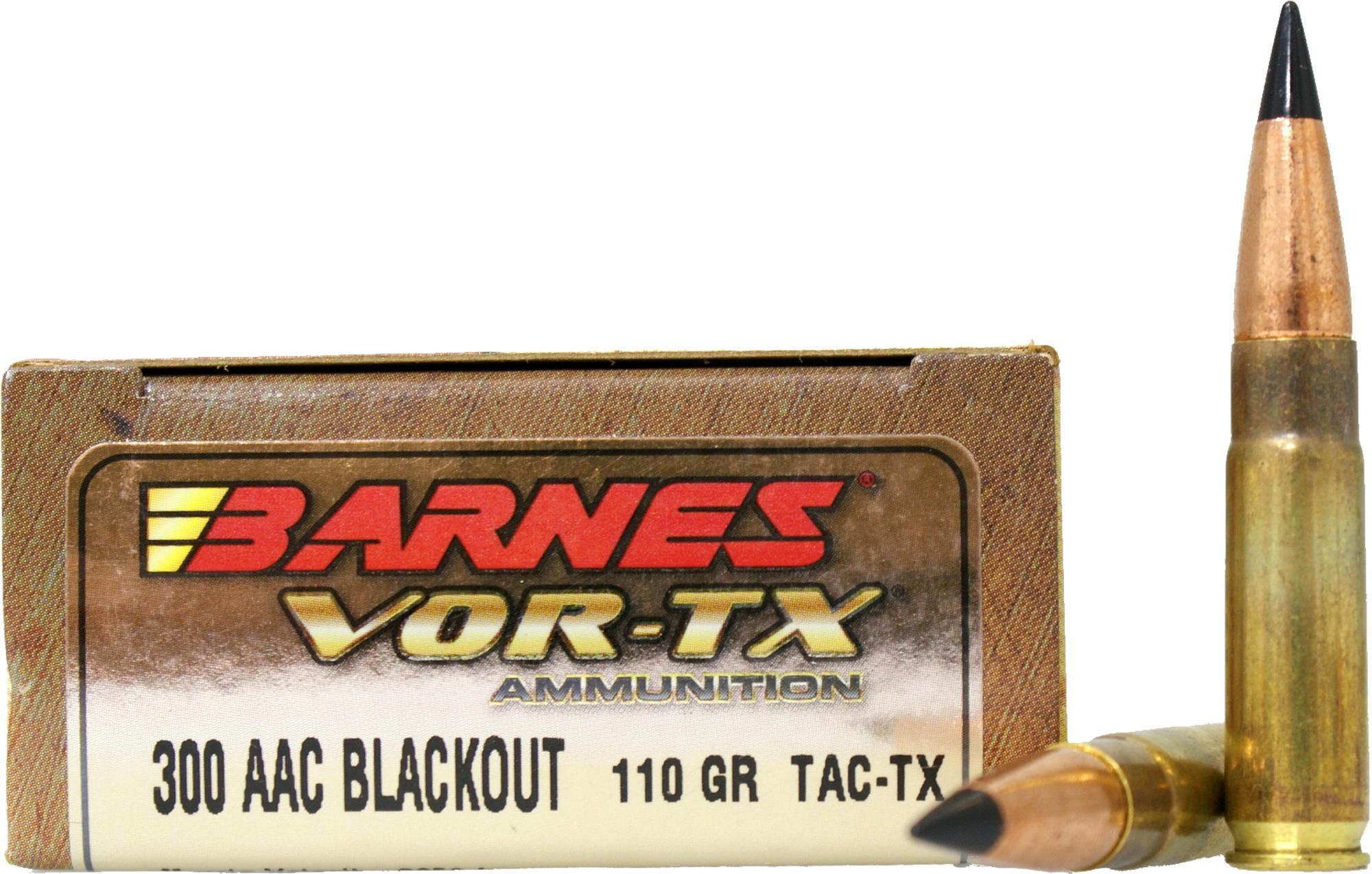 Qualität reich und großartig neueste Kollektion Barnes .300 AAC Blackout 7,13g - 110grs Barnes Tipped TSX Büchsenmunition