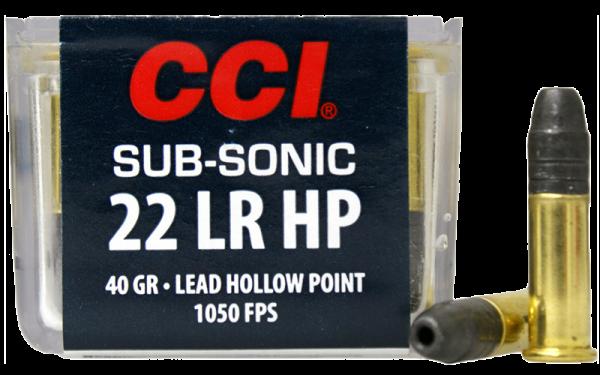 CCI Subsonic HP .22 LR HP 40 grs Kleinkaliberpatronen