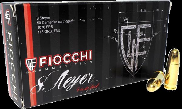 Fiocchi Old Time 8mm Steyr FMJ 113 grs Pistolenpatronen