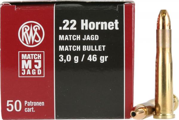 RWS Match Jagd .22 Hornet 2,98g - 46grs HP Büchsenmunition