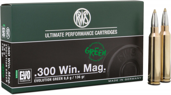 RWS Evolution Green .300 Win Mag 8,81g - 136grs HP Büchsenmunition